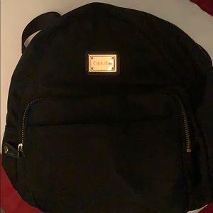 Calvin Klein black mini backpack